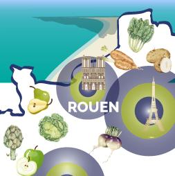 carte de France-rouen