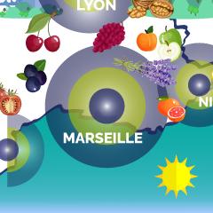 carte de France-marseille